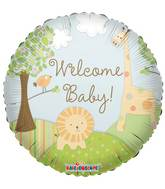 "18"" Welcome Baby Jungle Balloon"
