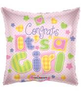 "18"" Congrats It&#39s A Girl Balloon"