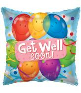 "4"" Airfill Only Get Well Latex Balloons Balloon"