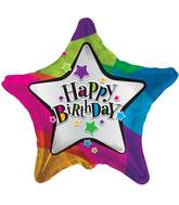 "18"" Birthday Stars Balloon"