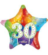 "18"" 30th Candles Balloon"