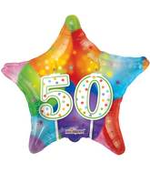 "18"" 50th Candles Balloon"