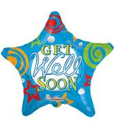 "18"" Get Well Stars Balloon"