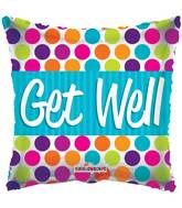 "18"" Get Well Dots Balloon"