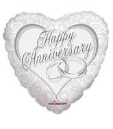 "18"" Happy Anniversary Rings Balloon"