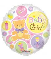"18"" Baby Girl Gellibean Balloon"