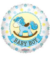 "18"" Baby Boy Roking Horse Gellibean Balloon"