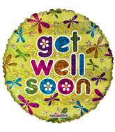"18"" Get Well Bugs Holographic Balloon"