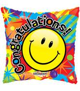 "18"" Smiley Congratulations Gellibean Balloon"