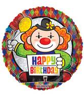 "9"" Airfill Only Prismatic Birthday Clown Balloon"