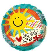 "18"" Get Well Sun Clear View Balloon"