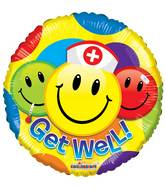"18"" Get Well Smileys Balloon"