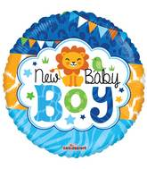"18"" Baby Boy Jungle Gellibean Balloon"
