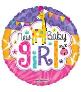"9"" Airfill Only Baby Girl Jungle Gellibean Balloon"