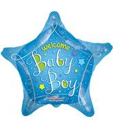 "18"" Welcome Baby Blue Star Balloon"