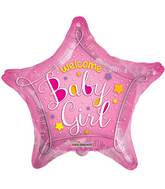"18"" Welcome Baby Pink Star Balloon"