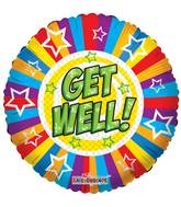 "18"" Get Well Stars & Lines Balloon"