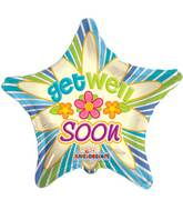 "18"" Get Well Soon Three Daisies Balloon"