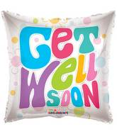 "18"" Get Well Soon Square Balloon"