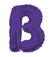 "14"" Airfill with Valve Only Letter B Purple Balloon"