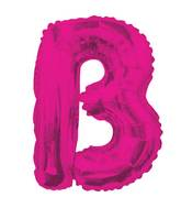 "14"" Airfill with Valve Only Letter B Hot Pink Balloon"