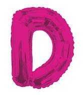 "14"" Airfill with Valve Only Letter D Hot Pink Balloon"