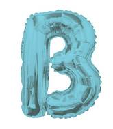 "14"" Airfill with Valve Only Letter B Light Blue Balloon"