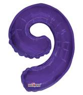 "14"" Airfill with Valve Only Number 9 Purple Balloon"