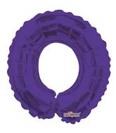 "14"" Airfill with Valve Only Number 0 Purple Balloon"