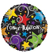 "18"" Congratulations Black Balloon"