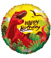 "18"" Happy Birthday Dinosaur Balloon"