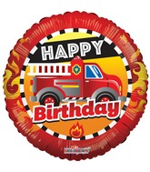 "18"" Birthday Fire Truck Balloon"