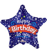 "9"" Airfill Only Happy Birthday To You Star Balloon"