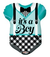 "18"" Teal Baby Clothes Shape Balloon"
