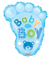 "20"" Baby Boy Foot Shape Gellibean Balloon"