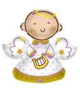 "28"" Baby Angel Shape Gellibean Balloon"