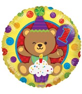 "18"" 1st Birthday Bear Balloon"