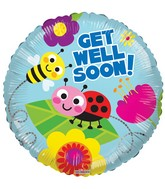 "18"" Get Well Bugs Balloon"