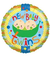 "18"" Baby Twins 2 Peas Balloon"