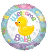 "18"" Welcome Baby Rubber Duck Clearview Balloon"
