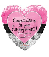 "18"" Engagement Pink Heart Balloon"