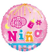 "18"" Es Nina Movil Holografico Balloon"