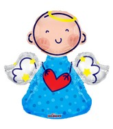 "28"" Angel Blue Shape Balloon"