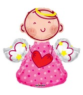 "28"" Angel Pink Shape Balloon"