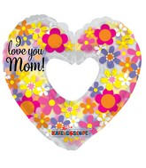 "9"" Airfill Only I Love You Mom! Shape Clearview Balloon"