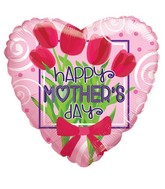 "18"" Happy Mother&#39s Day Bunch Of Flowers Balloon"