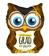 "18"" Owl Grad Shape Balloon"