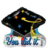 "20"" Grad Cap Shape Balloon"