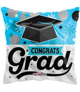 "18"" Blue Grad Balloon"