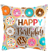 "18"" Square Birthday Donuts Balloon"